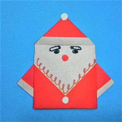 方 サンタ 折り紙 折り